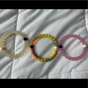 3 authentic Lokai bracelets